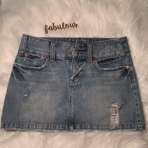 American Eagle Outfitters denim mini skirt